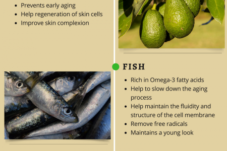 Foods that fight aging process l Good food for anti aging Infographic
