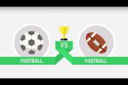 Football vs. American Football Infographic