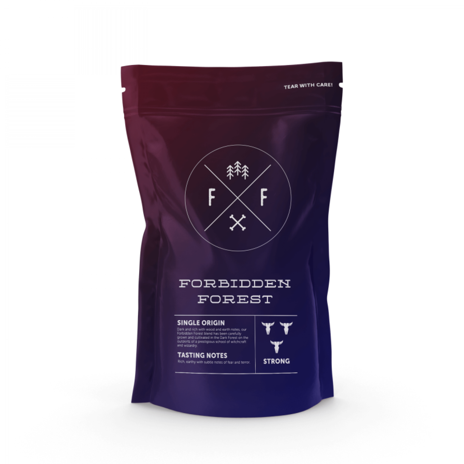 Forbidden Forest Single Origin: Dark & Rich With Notes Of Wood & Earth Infographic