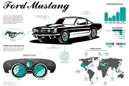 Ford Mustang 1965 Infographic