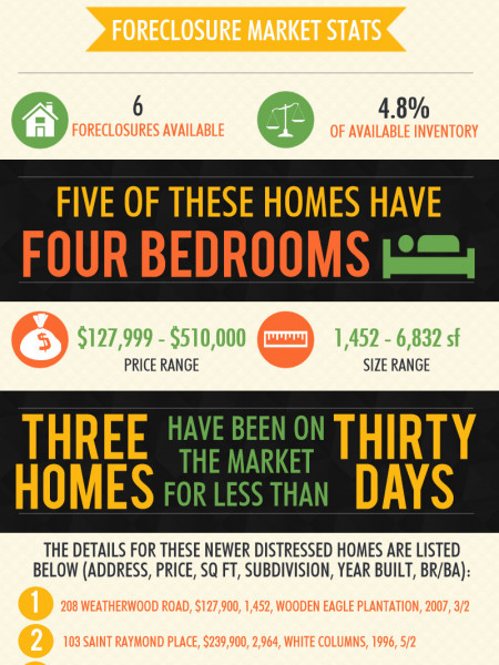 Foreclosures in Kathleen GA for October 2014 Infographic