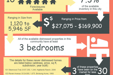 Foreclosures in Perry GA March 2014 Infographic