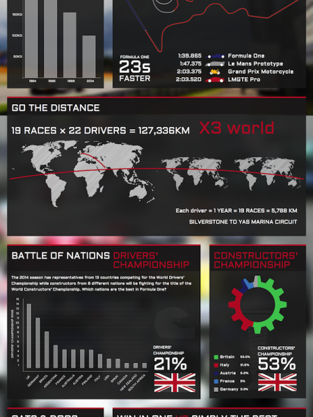 Formula One Twenty Fourteen Infographic