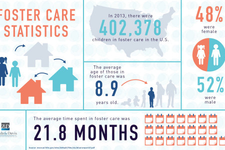 Foster Care Statistics in 2013 Infographic