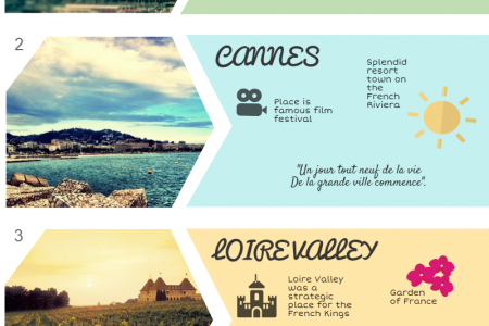 France: a paradise for romantic vacations Infographic