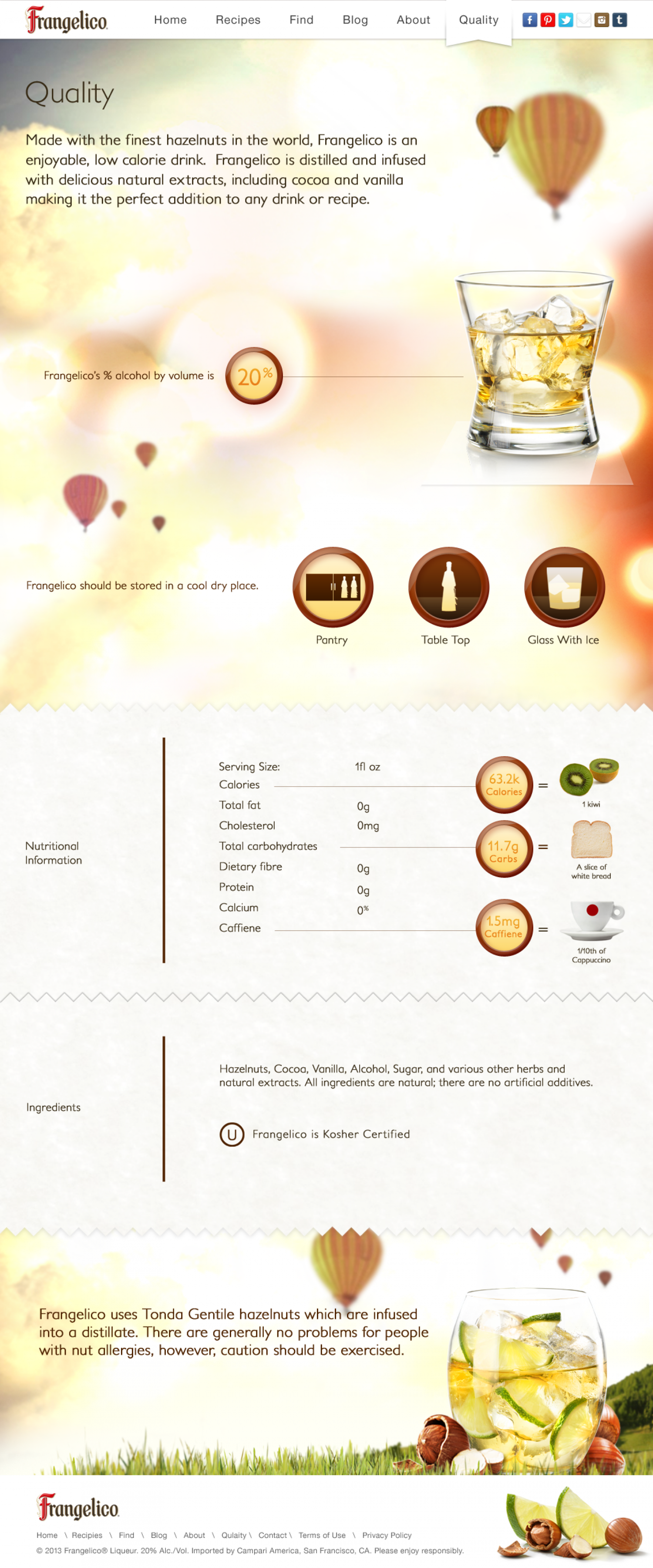 Frangelico Quality Parallax Infograph Infographic