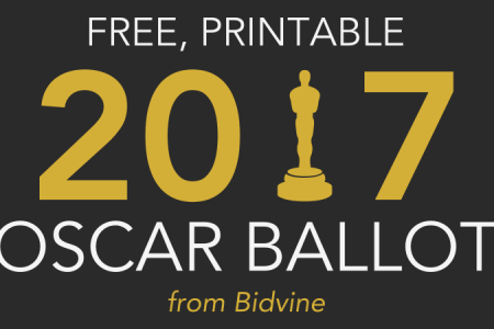 Free 2017 Oscar Ballot (Print This PDF Before Your Party!) Infographic