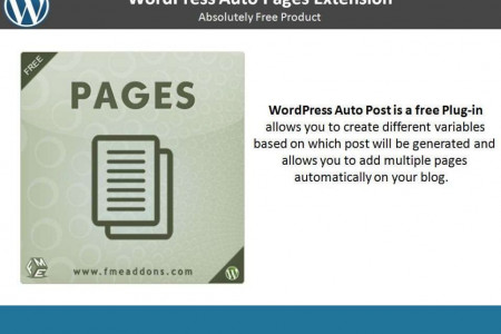 Free Wordpress Auto Pages Plugin Infographic