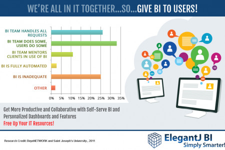 FREE your IT resources and provide BI democratization - USERS RULE! Infographic