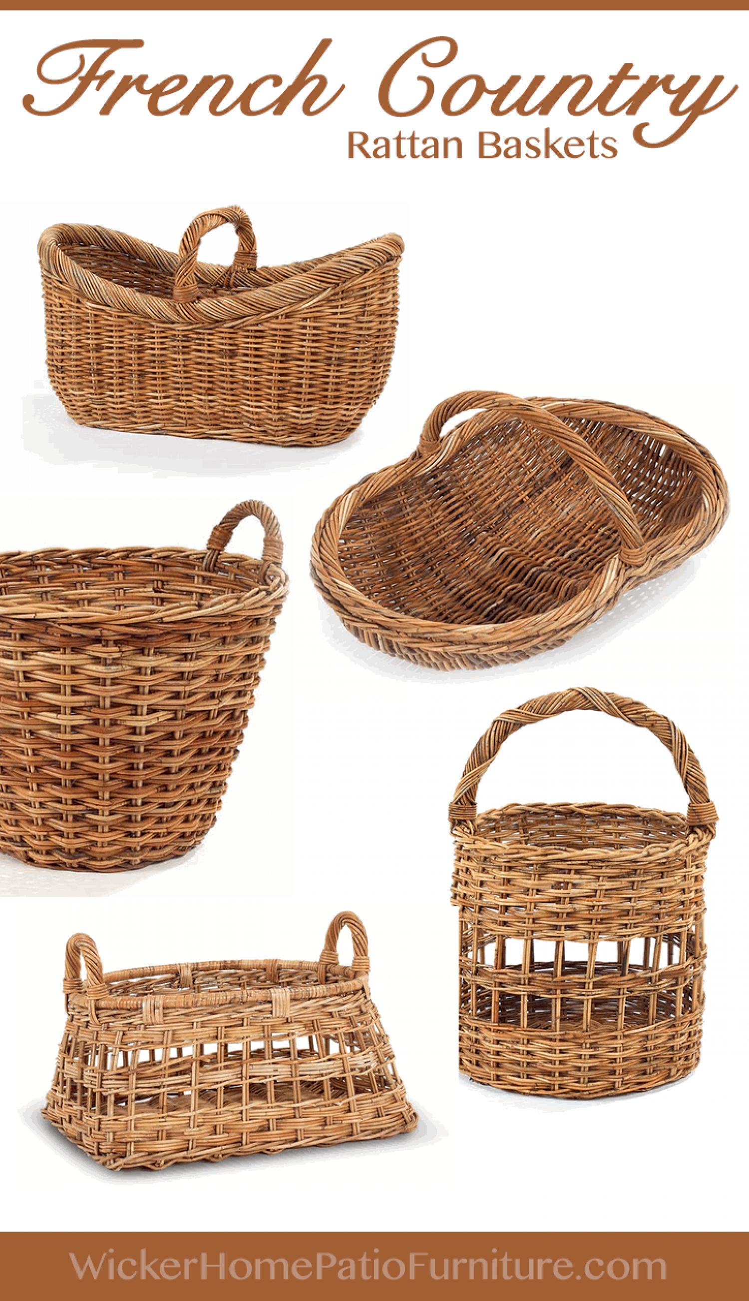 french country rattan baskets. Black Bedroom Furniture Sets. Home Design Ideas