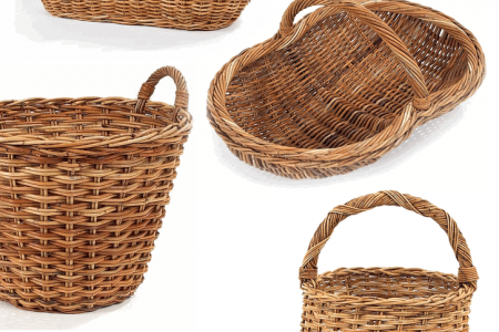 French  Country Rattan Baskets Infographic
