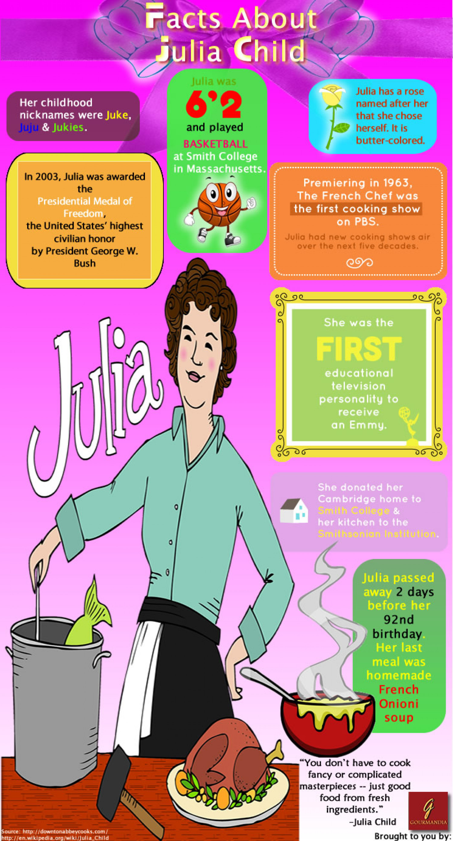 French Cooking with Julia Child Infographic