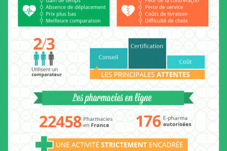 French: Online Medication Sales Infographic