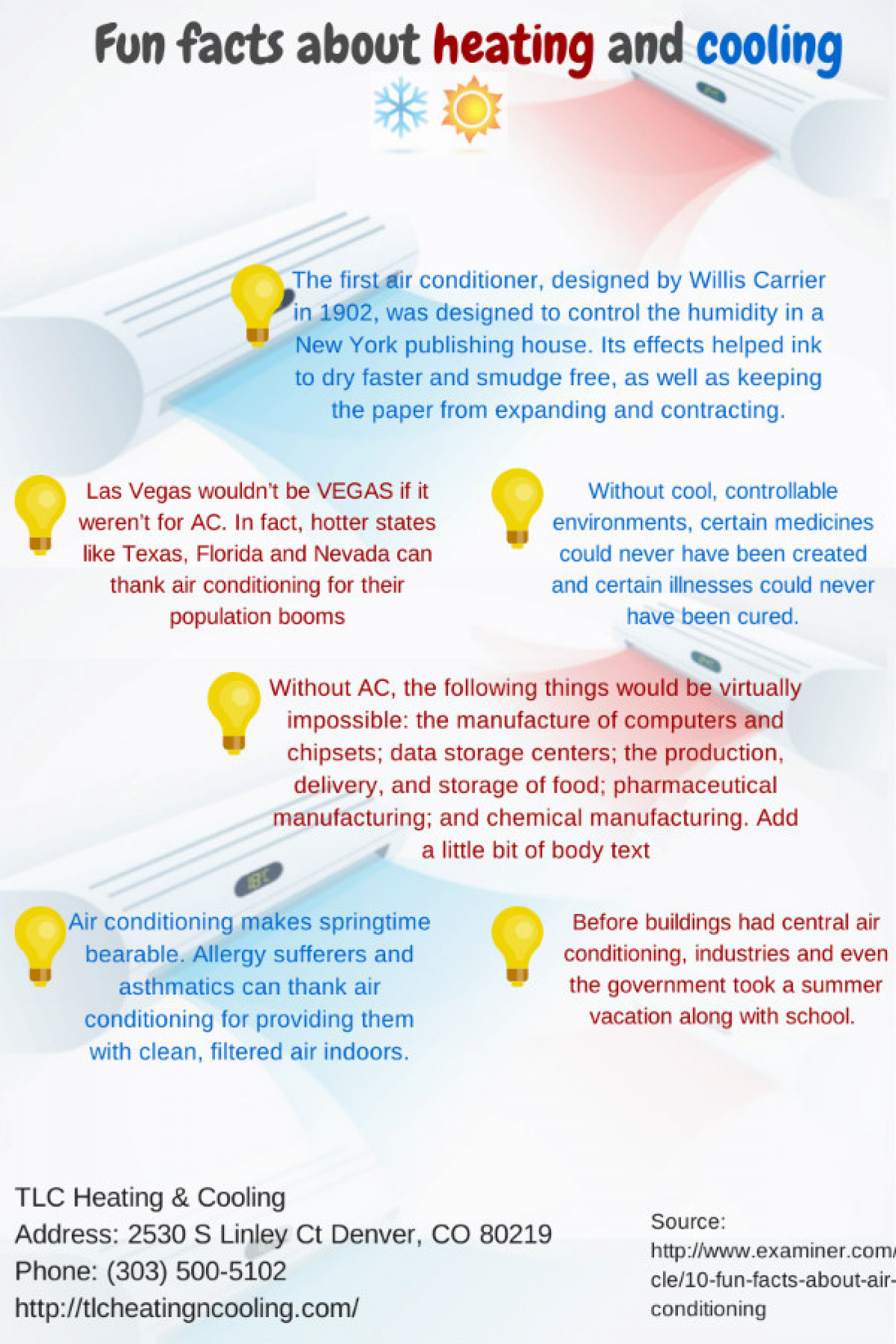 Fun Facts About Heating and Cooling Infographic