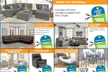 furniture from Leon Furniture Store Price Cuts Weekly Event Infographic