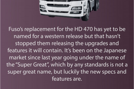Fuso's Replacement for the HD 470 Premium Truck This Year Infographic