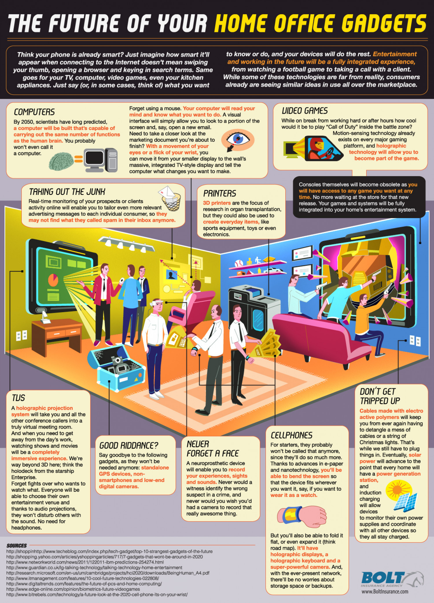 Future of Your Home Office Gadgets Infographic explores the future technology of the home office Infographic