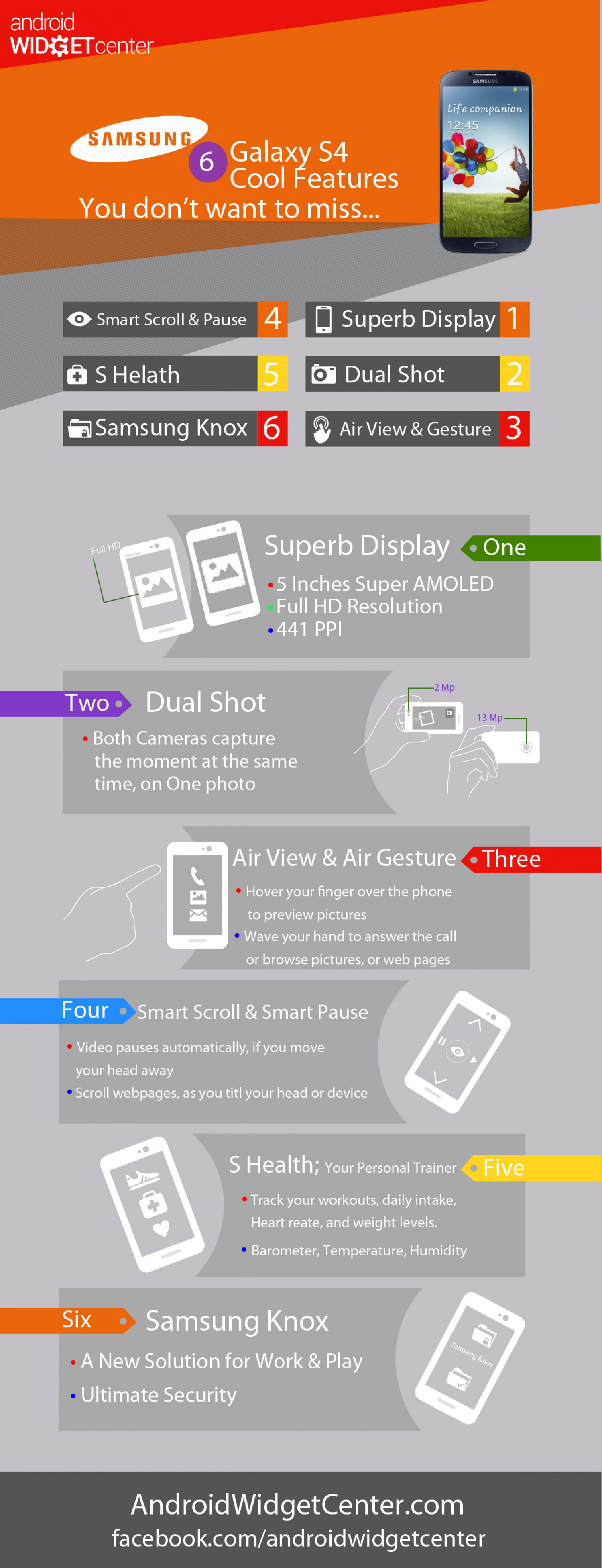 Galaxy S4 Cool Features Infographic