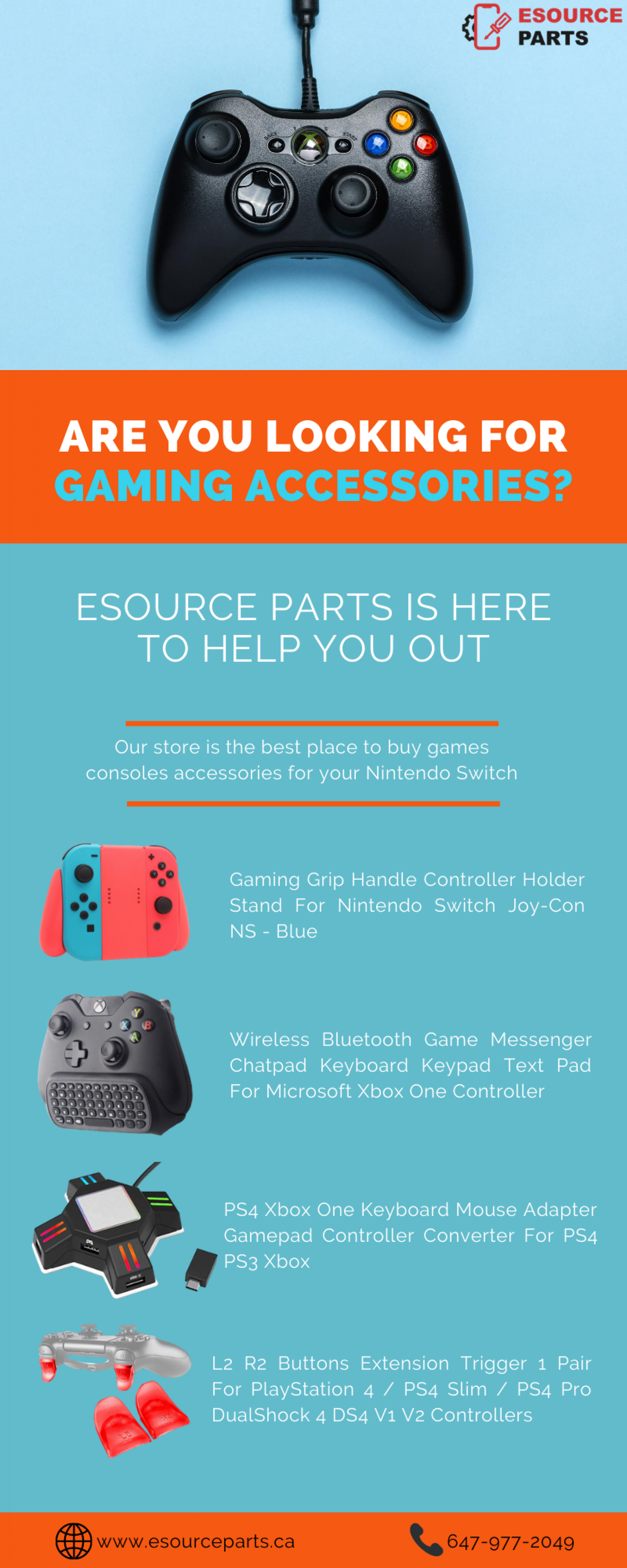 Game console accessories for your Nintendo Switch Infographic