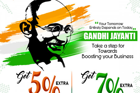 Gandhi Jayanti take a step for towards boosting your Business Infographic