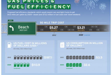 Gas Prices & Fuel Efficiency Infographic