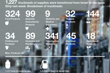 Gaza Strip Land Crossing Activities Infographic