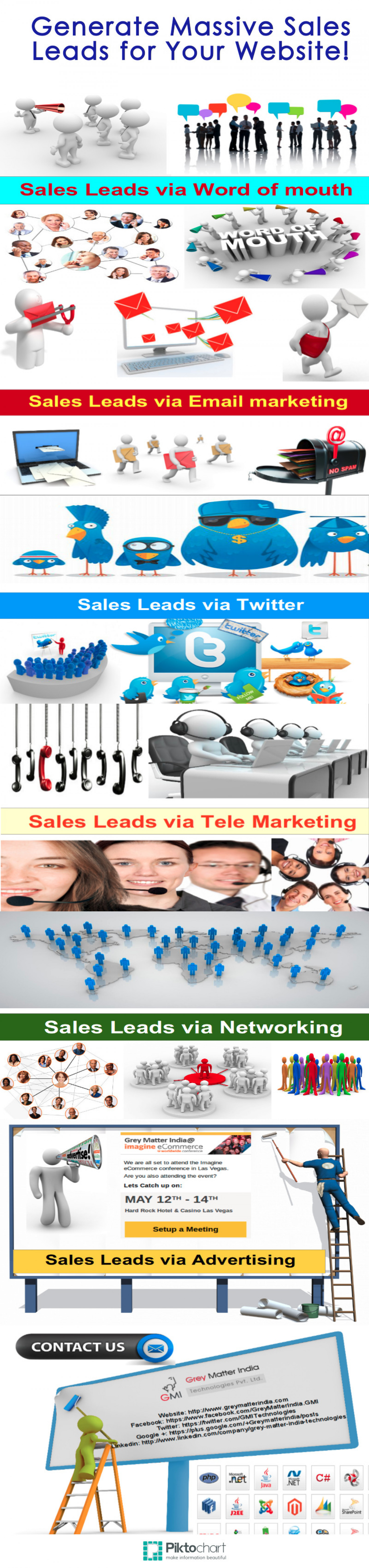 Generate Massive Sales Leads for Your Website! Infographic