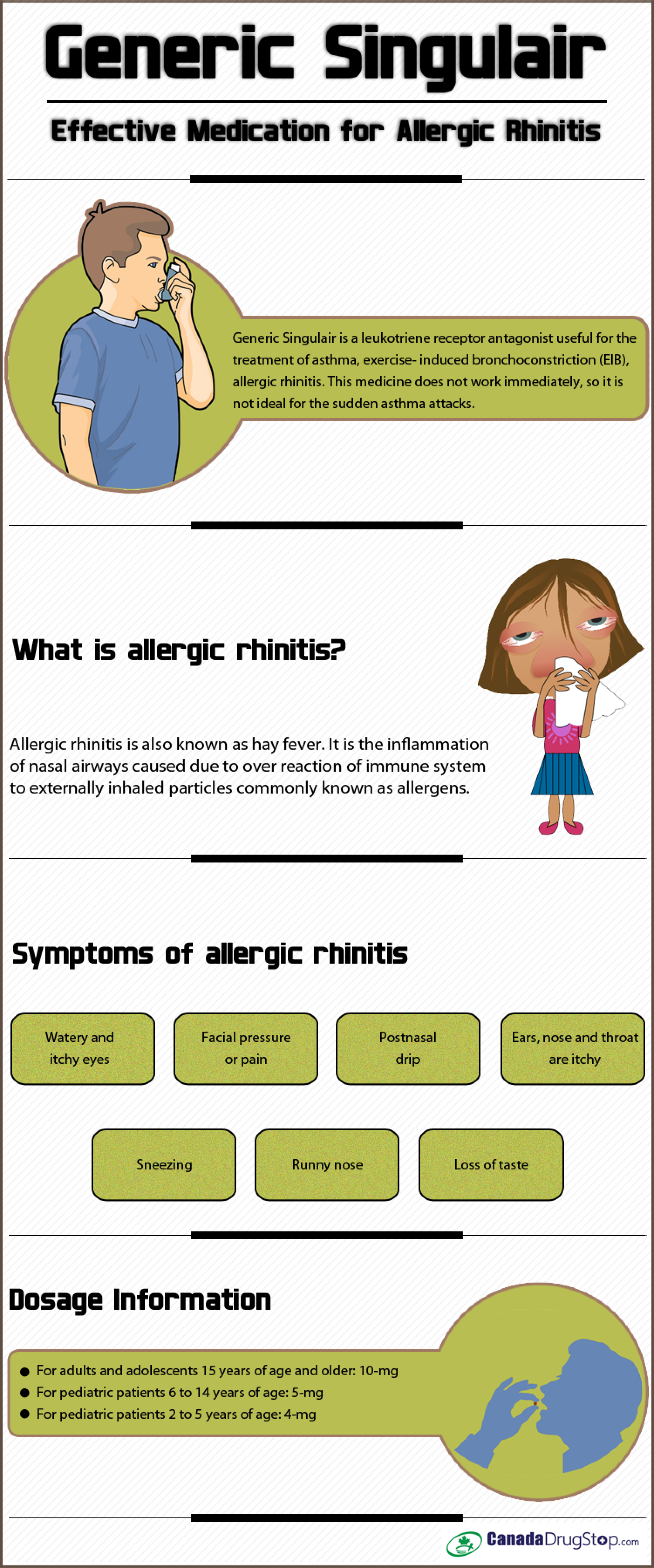 Generic Singulair – Effective Medication for Allergic Rhinitis Infographic