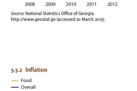 Georgia : GDP growth bu sector, Inflation Infographic