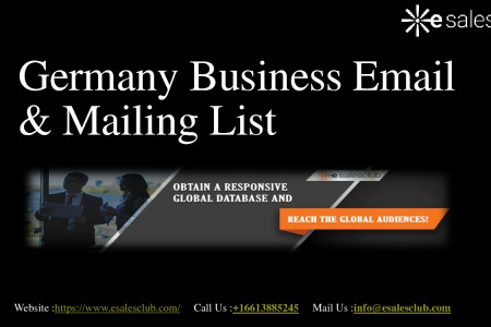 Germany Business Mailing List | Germany Business Email  List | Germany Database Infographic