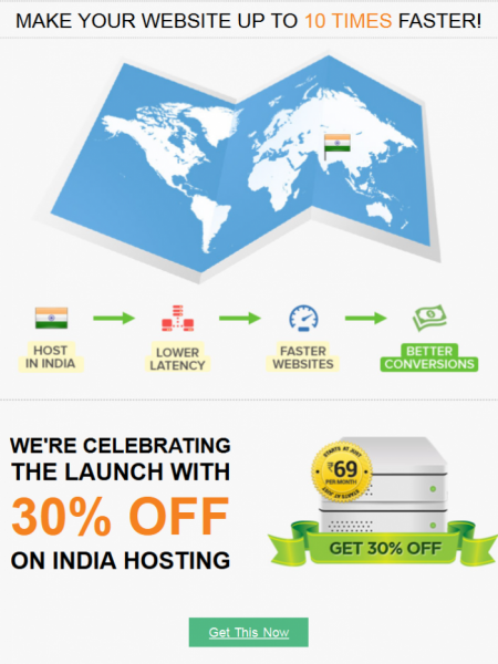 GET  INDIA HOSTING TODAY! Infographic