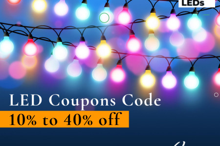 Get 10% to 40% off with Omg LED Coupon Code in April 2021. Infographic
