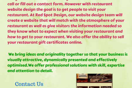 Get A Custom Web Design To Showcase Your Restaurant Today Infographic