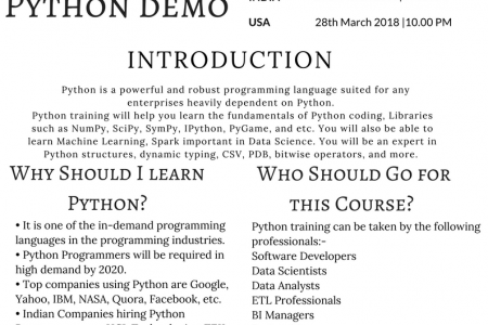 Get a High Paid Salary as a Python Programmer| Learn Python Now Infographic