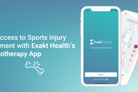 Get Access to Sports Injury Treatment with Exakt Health's Physiotherapy App Infographic