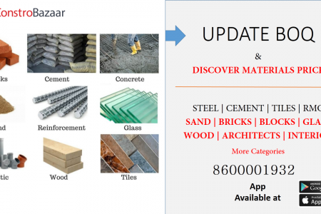 Get All Construction materials And Services At Constrobazaar Infographic