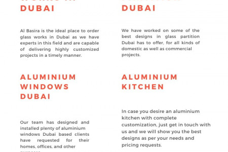 Get Commercial and Residential Swift Glass Rooms from Al-Basira Infographic