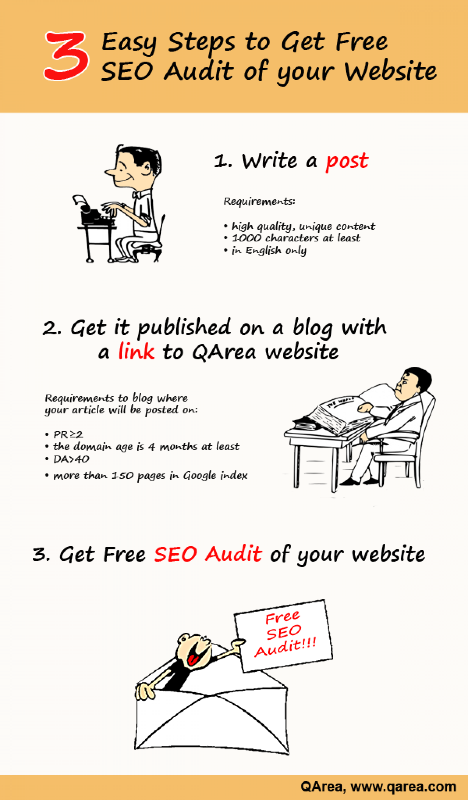 Get Free Audit of your Website from QArea SEO Experts! Infographic