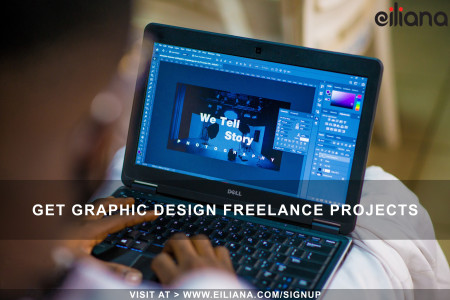 Get graphic design freelance projects Infographic
