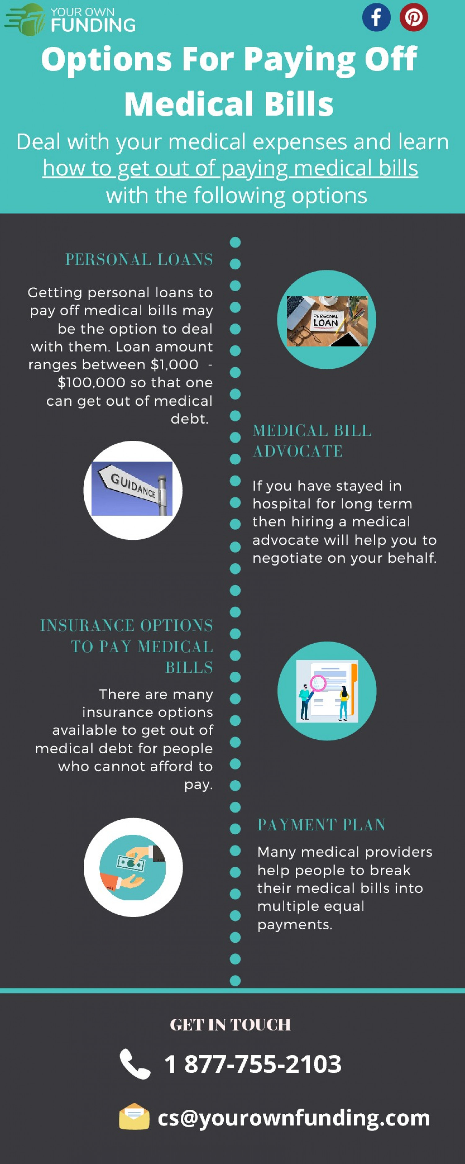 Get Help For Paying Off Medical Bills Infographic