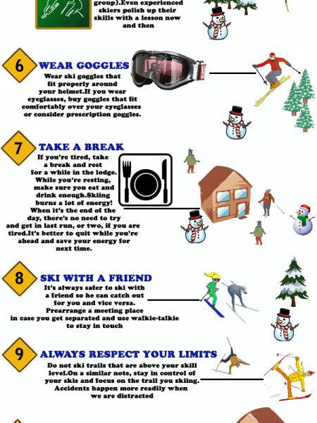 Skiing Safety Tips Infographic