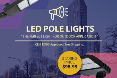 Get The Best LED Pole Lights For Your Outdoor Lighting Infographic
