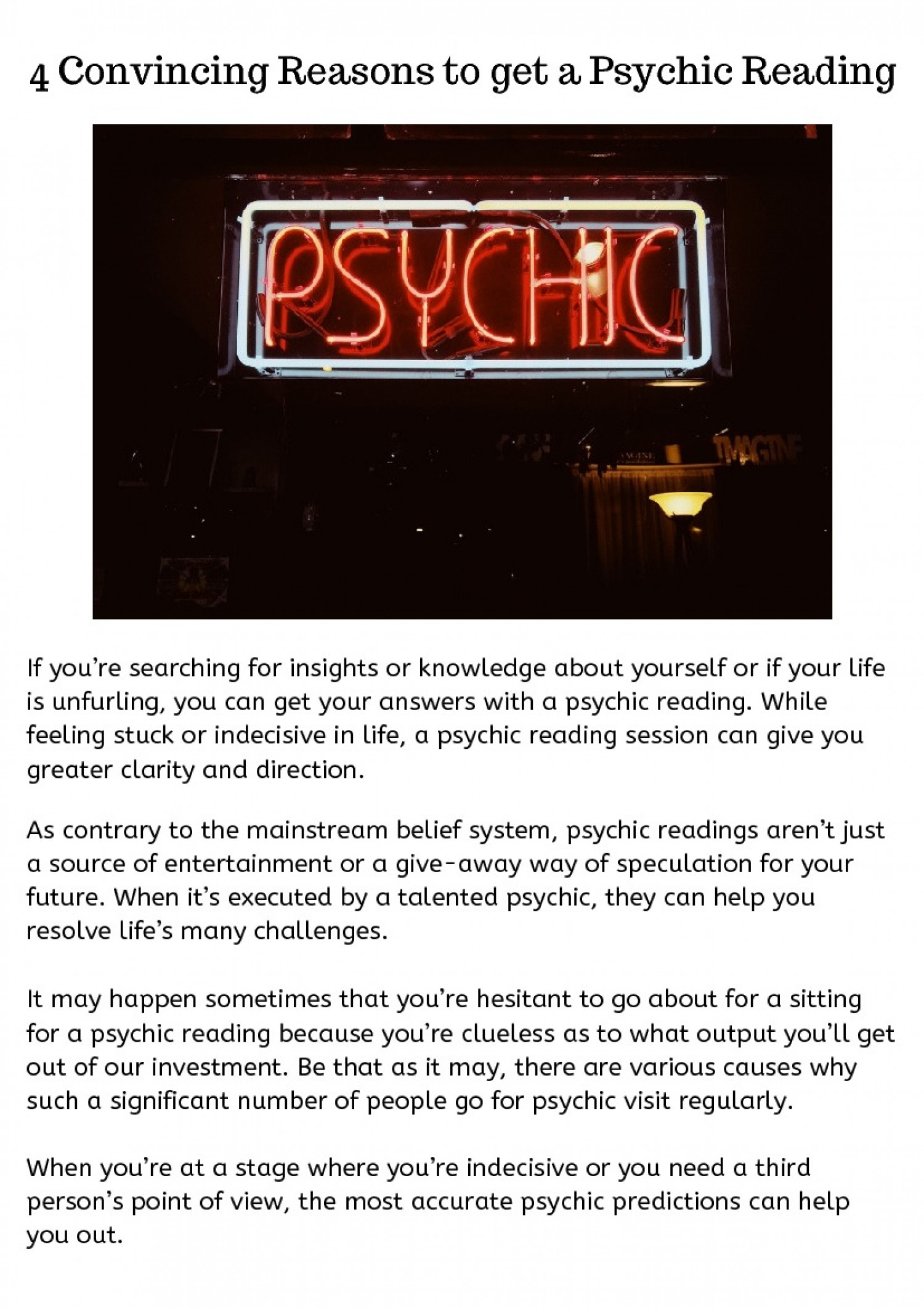 Get the Best Telephone psychic Readings Infographic