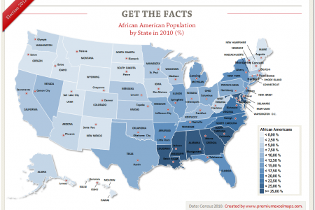 Get the Facts - African American Population by State Infographic