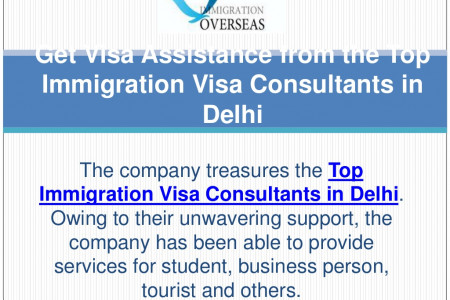 Get visa assistance from the Top immigration visa consultants in Delhi Infographic