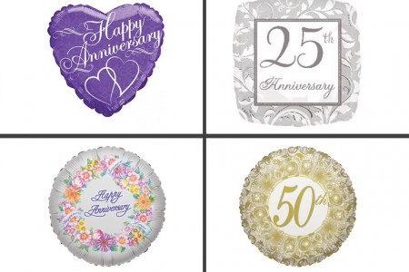 Get Wedding Anniversary Balloons on Balloons Online Infographic