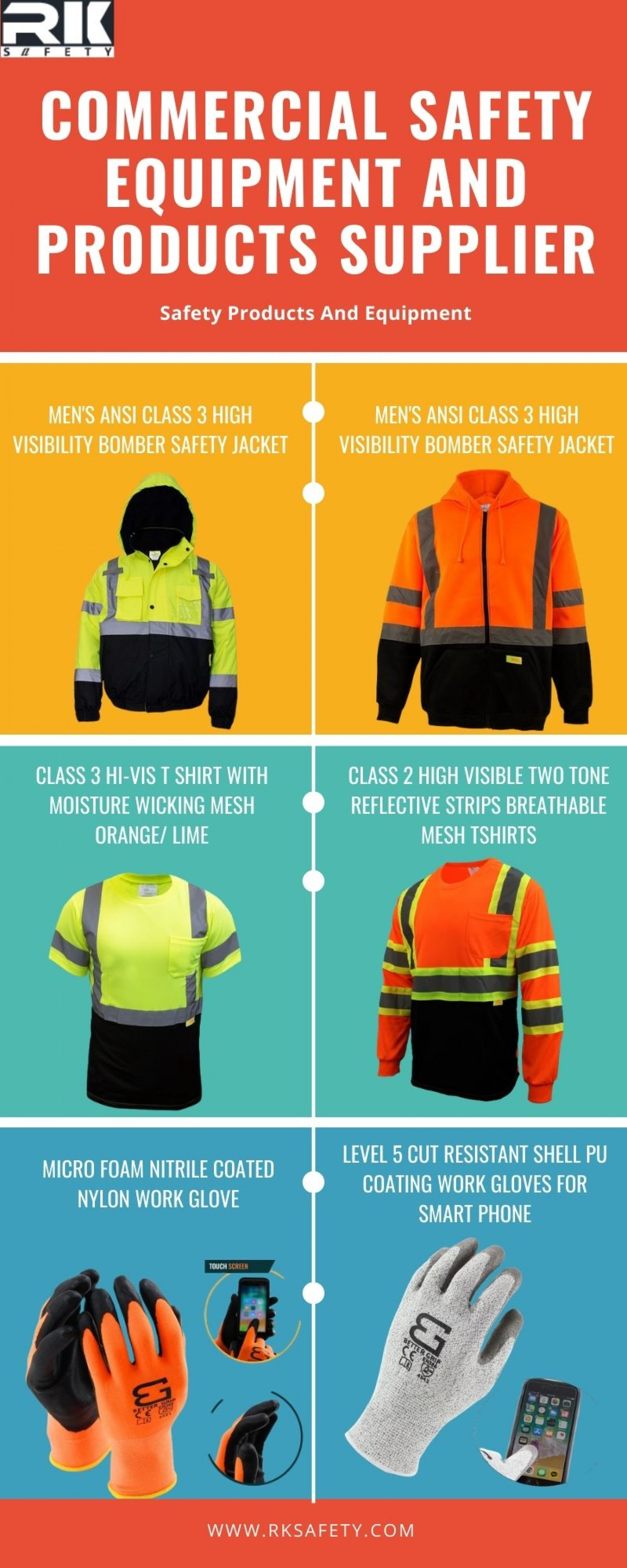 Get Your Safety Apparel with Rk Safety Infographic