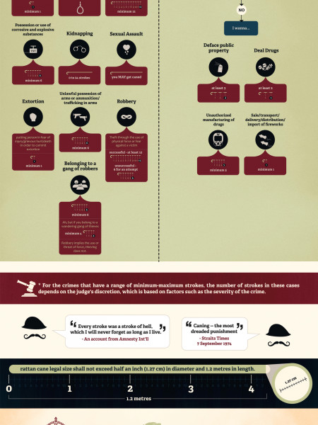 Getting Caned in Singapore Infographic