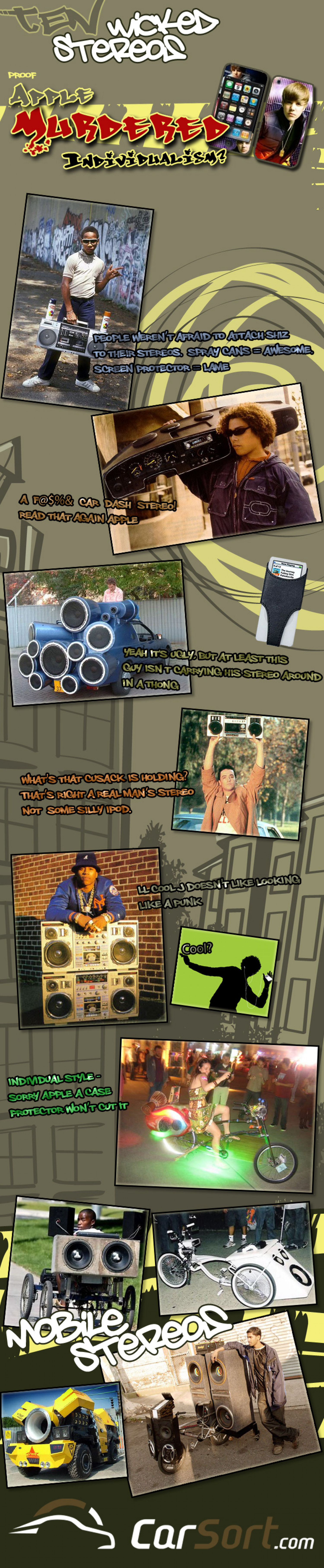 Ghetto Blasters & Apple's Manufactured Individualism Infographic