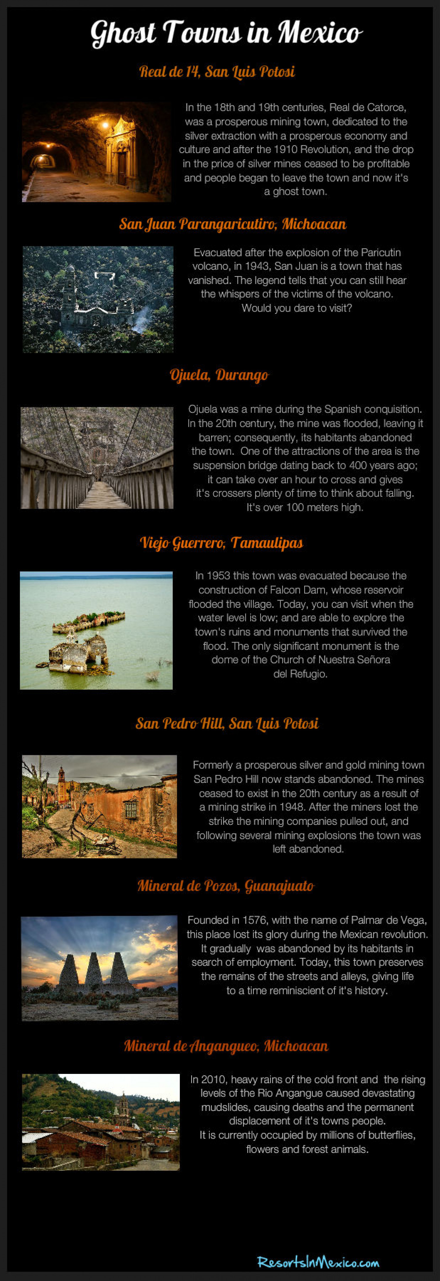 Ghost Towns In Mexico Infographic
